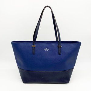 KATE SPADE Saffiano Two-Tone Large Tote Bag Blue